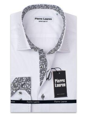 Белая мужская рубашка Elegance, приталенного кроя Super Slim Fit с воротником Button-Down