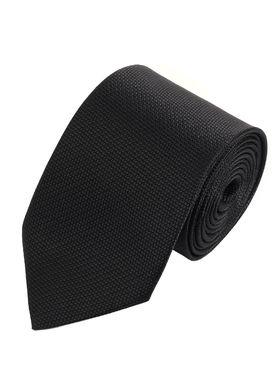 Классический однотонный черный структурный мужской галстук