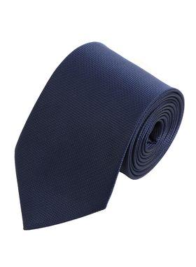 Однотонный мужской галстук благородного темно-синего цвета