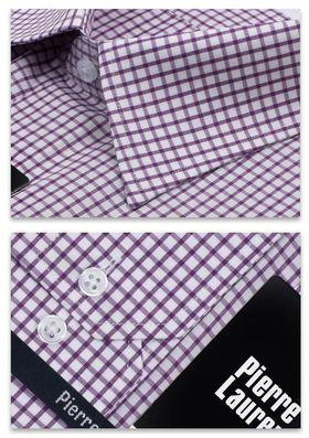 Мужская рубашка больших размеров в сиреневую клетку