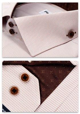 Красивая мужская рубашка Elegance полуприталенного кроя Slim Fit