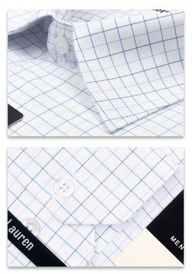 Классическая мужская рубашка в клетку с длинным рукавом