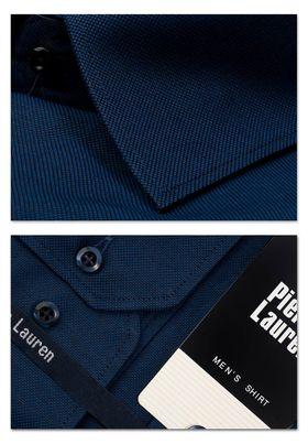 Приталенная мужская рубашка из ткани oxford синего цвета Slim Fit