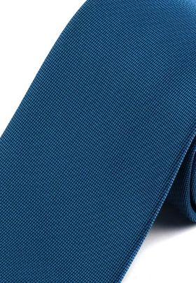 Однотонный бирюзовый мужской галстук