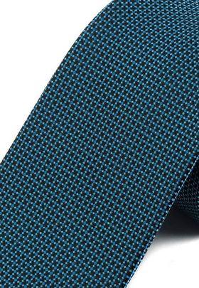 Красивый мужской галстук с бирюзовым узором