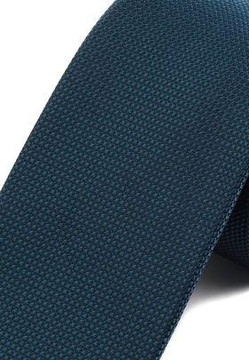Однотонный бирюзовый мужской галстук.