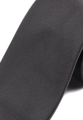 Красивый мужской галстук темно-серого цвета.