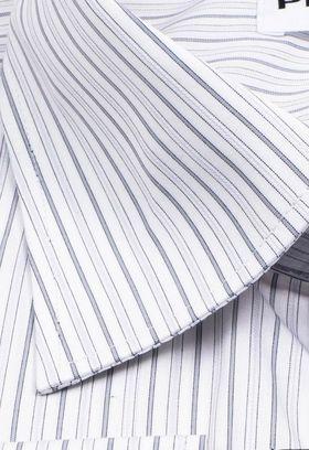 Хлопковая мужская рубашка больших размеров в полоску