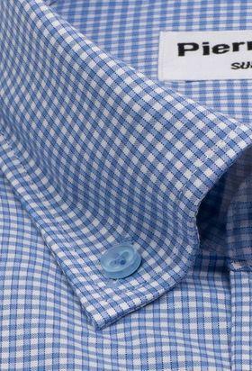 Мужская рубашка в голубую клетку