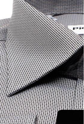 Красивая мужская рубашка из структурной серой ткани