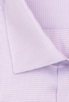 Мужская рубашка из структурной сиреневой ткани