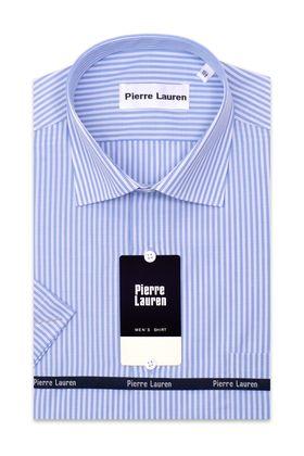Полуприталенная мужская рубашка с коротким рукавом Slim Fit.