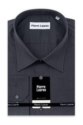 Серая мужская рубашка больших размеров из структурной ткани