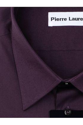 Однотонная темно-фиолетовая мужская рубашка