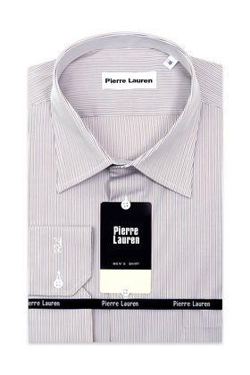 Мужская рубашка в бежевую полоску