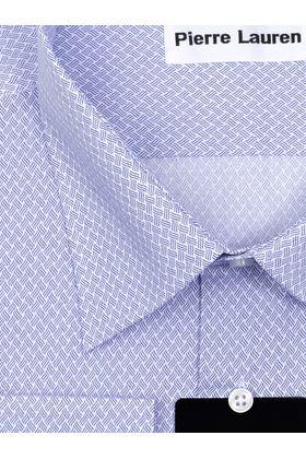 Голубая мужская рубашка больших размеров из ткани с узорным принтом