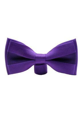 Элегантная фиолетовая мужская бабочка из микрофибры