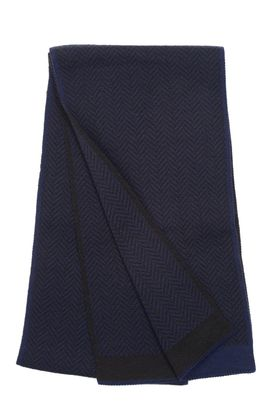 Вязаный мужской шарф из шерсти и акрила