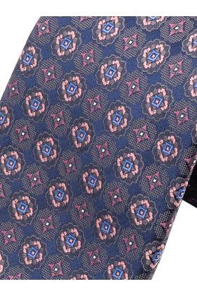 Фиолетовый мужской галстук с узором, шириной 9 см у основания