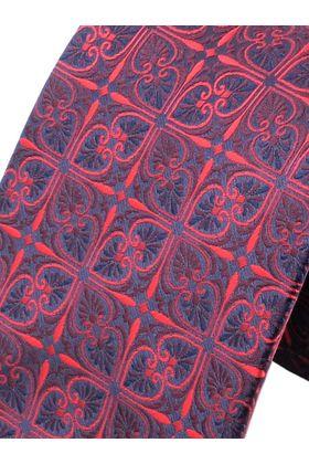 Бордовый мужской галстук с узором, шириной 9 см у основания