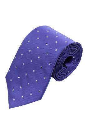 Синий мужской галстук с узором, шириной 9 см у основания