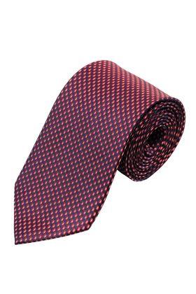 Бордовый мужской галстук с геометрическим узором, шириной 9 см у основания