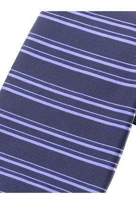 Синий мужской галстук в горизонтальную полоску. Галстук шириной 9 см у основания.