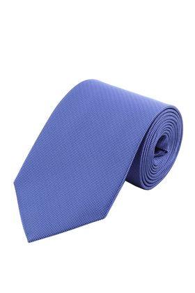 Однотонный ярко-синий мужской галстук из структурной ткани. Галстук шириной 9 см у основания.