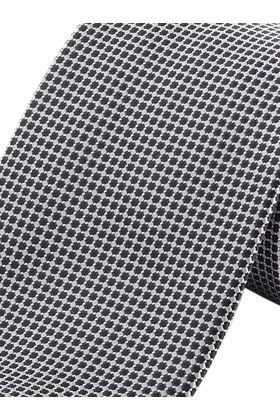 Серебристо-серый мужской галстук в клетку. Галстук шириной 9 см у основания.