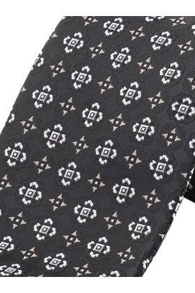 Черный мужской галстук с узором