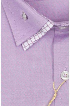 103157JМК Сиреневая мужская рубашка приталенная Jacoe