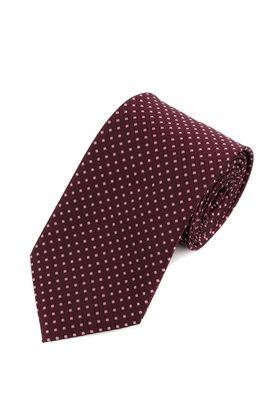 Бордовый мужской галстук с геометрическим узором