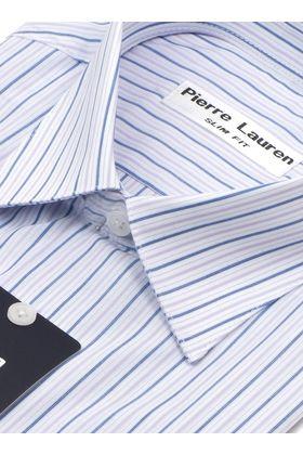 Мужская рубашка с коротким рукавом в синюю полоску