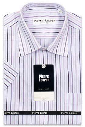 Мужская рубашка с коротким рукавом в полоску