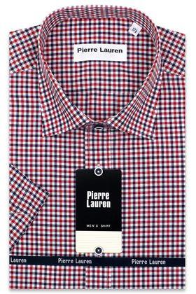 Мужская рубашка с коротким рукавом в красную клетку