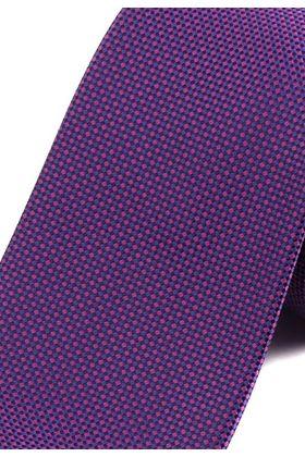 Красивый мужской галстук темно-фиолетового цвета с геометрическим узором.