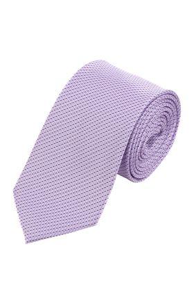 Красивый мужской галстук сиреневого цвета с геометрическим узором.