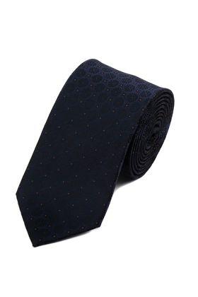 Стильный мужской галстук синего цвета с узором.