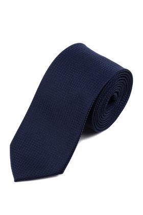 Красивый, насыщенно-синий мужской галстук из текстурной ткани.