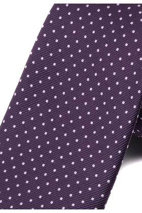 Стильный фиолетовый мужской галстук с геометрическим узором.