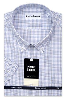 Мужская рубашка больших размеров c коротким рукавом