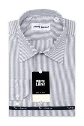 Серая мужская рубашка в полоску
