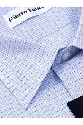 Мужская рубашка прямого покроя больших размеров в голубую клетку