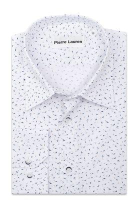 Классическая мужская рубашка больших размеров прямого покроя белого цвета