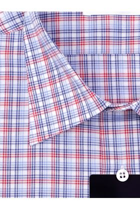Мужская рубашка в красно-синюю клетку