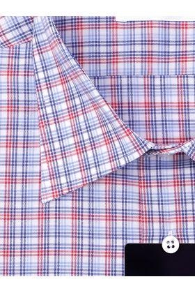 Мужская рубашка прямого покроя больших размеров в красно-синюю клетку