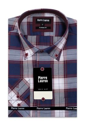Классическая мужская рубашка больших размеров с длинным рукавом