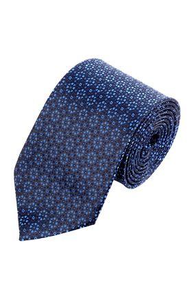Синий мужской галстук с интересным дизайном