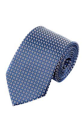 Синий мужской галстук в горошек