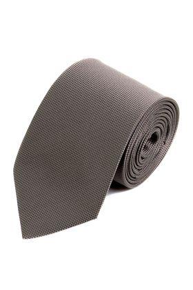 Серый однотонный мужской галстук